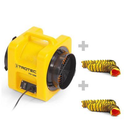 Axiaalventilator TTV 1500 + 2x SP-T slang 203 mm, 7,6 m