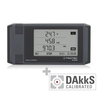 Professionele datalogger DL200D - gecalibreerd naar DAkkS D.2102