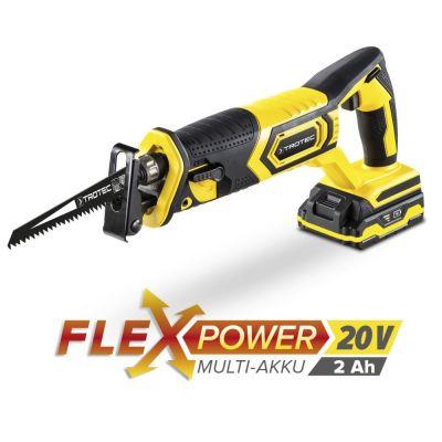 Akku-Säbelsäge PRCS 10-20V + Zusatz-Akku Flexpower 20V 2,0 Ah