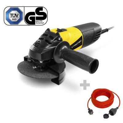 Haakse slijper PAGS 10-115 + Kwaliteits verlengsnoer 15 m / 230 V / 1,5 mm²