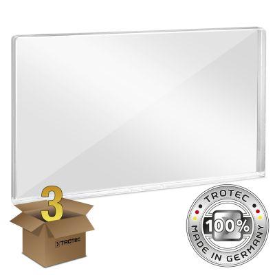 Bureau-scherm plexiglas met aerosol-rand 1158 x 69 x 688 pakket van 3 stuks