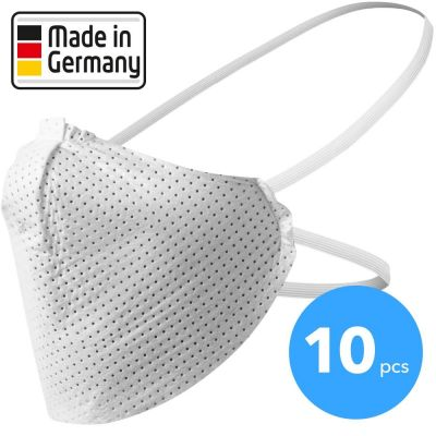 Mond-neusbescherming, mond-neusmasker Made in Germany 10 stuks