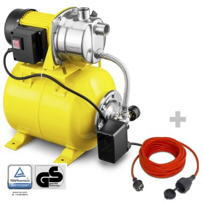 Huiswaterpomp TGP 1025 ES + Kwaliteits verlengsnoer 15 m / 230 V / 1,5 mm²