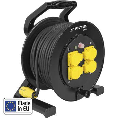 Kabelhaspel PVD3 / 40 m kabel zwart