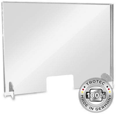 Baliescherm plexiglas met aerosolrand LARGE 995 x 250 x 750