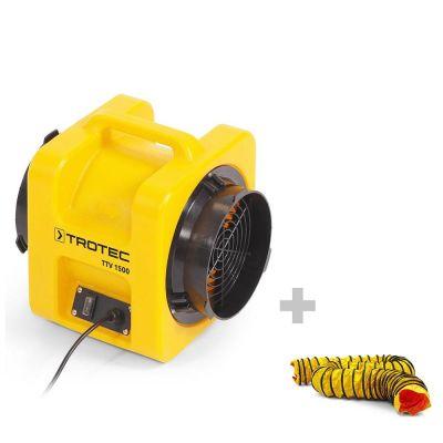 Axiaalventilator TTV 1500 + SP-T slang 203 mm, 7,6 m