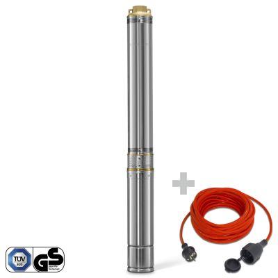Dieptepomp TDP 7500 E + Kwaliteits verlengsnoer 15m / 230 V / 1,5 mm²