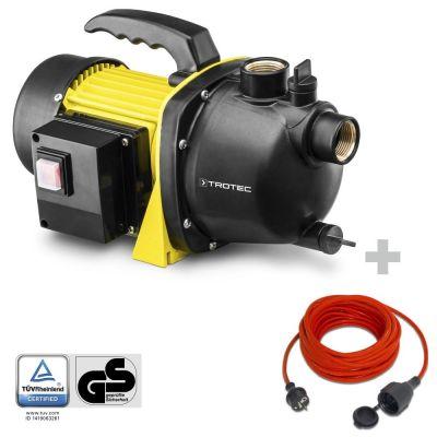 Tuinpomp TGP 1000 E + Kwaliteits verlengsnoer 15 m / 230 V / 1,5 mm²