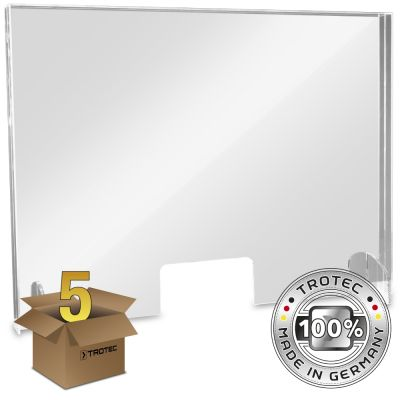 Baliescherm plexiglas met aerosolrand LARGE 995 x 250 x 750 pakket van 5 stuks