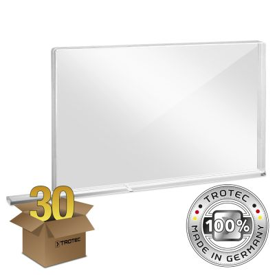 Schooltafel-scherm plexiglas met aerosolrand SMALL 800 x 69 x 500 pakket van 30 stuks
