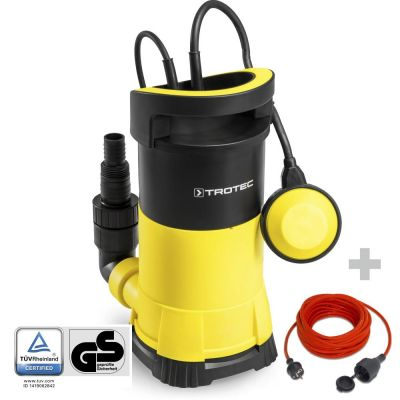 Schoonwater-dompelpomp TWP 9005 E + Kwaliteits verlengsnoer 15 m