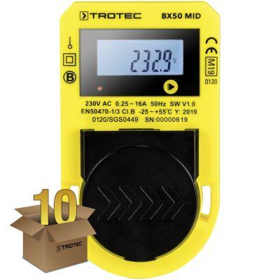 Energiekostenmeetapparaat BX50 MID in een pakket van 10 stuks