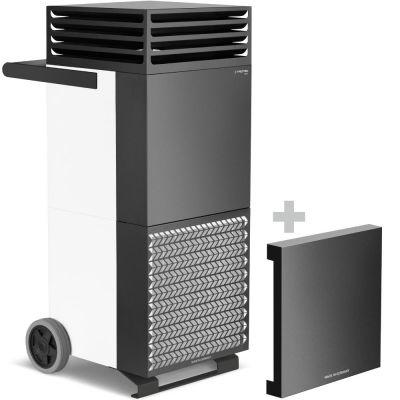 Luchtreiniger TAC M in wit/zwart + geluiddempende kap