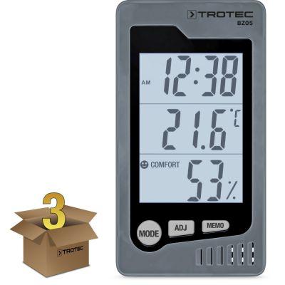 Ruimte-thermohygrometer BZ05 in een verpakking van 3 stuks
