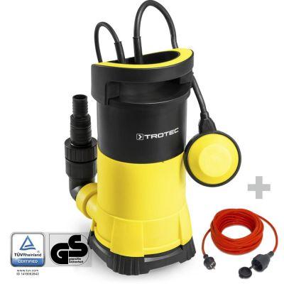 Schoonwater-dompelpomp TWP 7505 E + Kwaliteits verlengsnoer 15 m