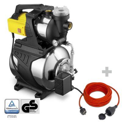 Huiswaterpomp met filter TGP 1050 E + Kwaliteits verlengsnoer 15 m / 230 V / 1,5 mm²