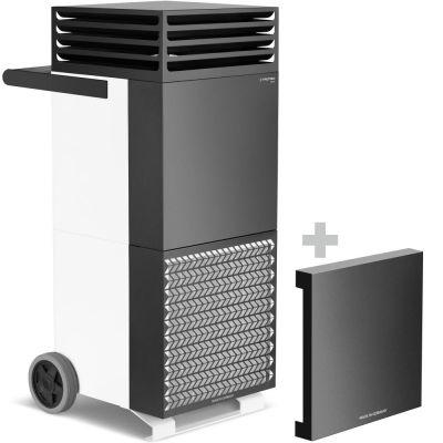 Luchtreiniger TAC V+ in wit/zwart + geluiddempende kap