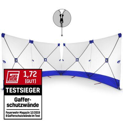 VarioScreen-calamiteitenscherm 4*180*180 doormidden deelbaar blauw