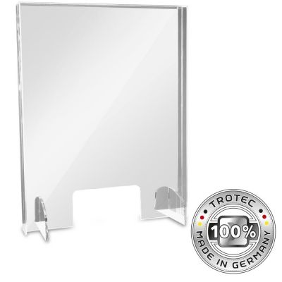 Baliescherm plexiglas met aerosolrand SMALL 595 x 250 x 750