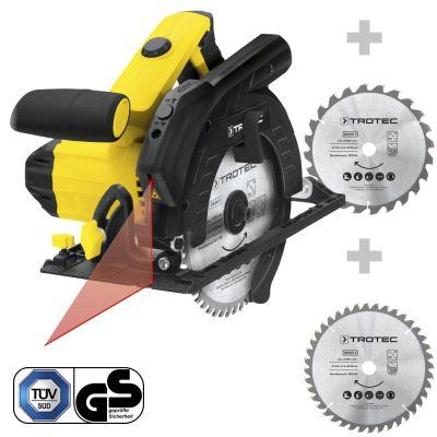 Handcirkelzaag PCSS 10-1400 + Cirkelzaagbladenset voor hout Ø 190 mm (24 + 40 tanden)