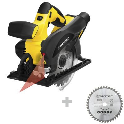 Accu handcirkelzaag PCSS 10-20V + Cirkelzaagbladenset voor hout Ø 150 mm (40 tanden), 3-delig