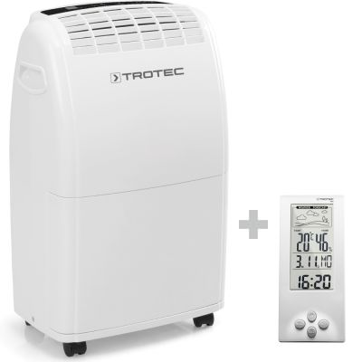 Luchtontvochtiger TTK 75 E + Thermohygrometer weerstation BZ06