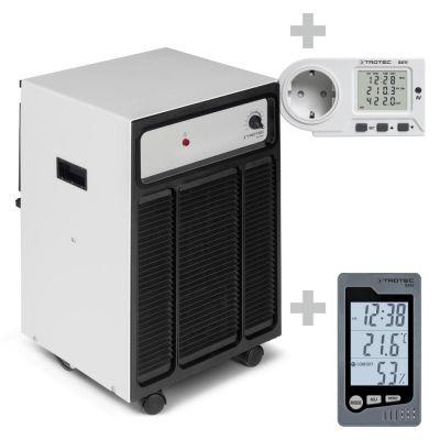 Luchtontvochtiger TTK 120 S + Ruimte-thermohygrometer BZ05 + Energiekosten-meetapparaat BX11