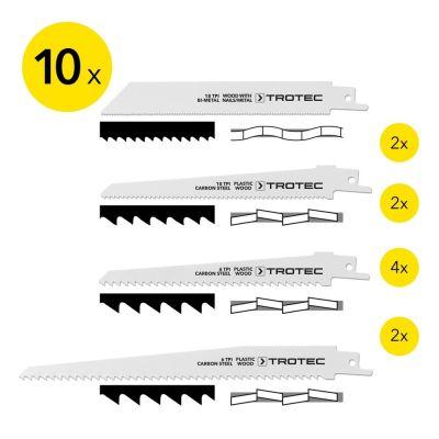 Reciprozaagbladen-set hout/metaal/plastic, 10-delig