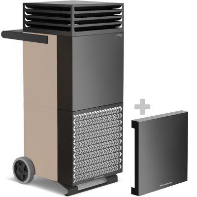 Luchtreiniger TAC M in brons/zwart + geluiddempende kap