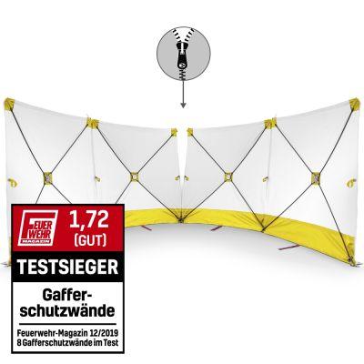 VarioScreen-calamiteitenscherm 4*180*180 doormidden deelbaar geel