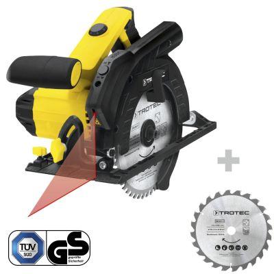 Handcirkelzaag PCSS 10-1400 + Cirkelzaagbladenset voor hout Ø 190 mm (24 tanden), 3-delig