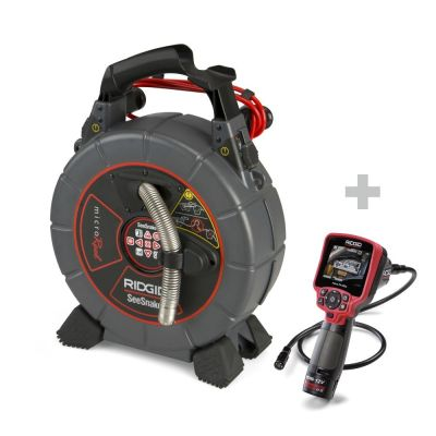 Inspectiecamera SeeSnake microReel + Digitale inspectiecamera micro CA-350x