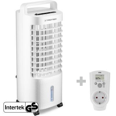 Aircooler, luchtkoeler, ventilator, luchtbevochtiger PAE 11 + Stopcontact-hygrostaat BH30 (niet bruikbaar in Belgie)