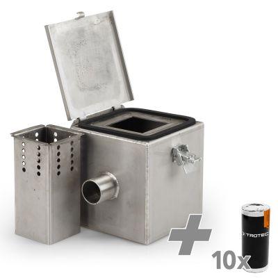 Rookgaskamer Edelstaal V2 + 10x Rookpatronen (wit)