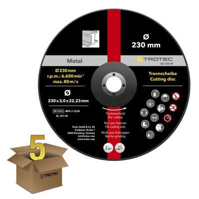 Doorslijpschijf metaal 230 - gekropt, in een voordeelpakket van 5 stuks