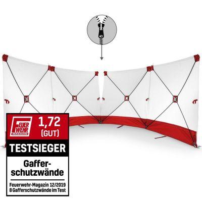 VarioScreen-calamiteitenscherm 4*180*180 doormidden deelbaar rood
