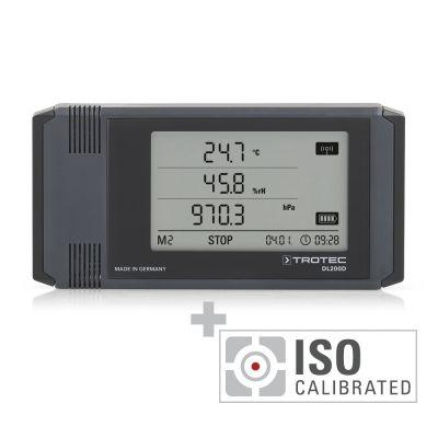 Professionele datalogger DL200D - gecalibreerd naar ISO I.2102