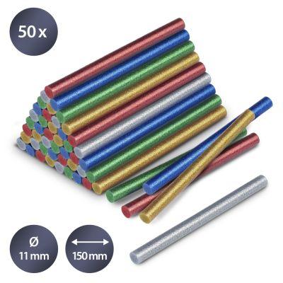 Lijmsticks-set glitter, 50 stuks (Ø 11 mm)