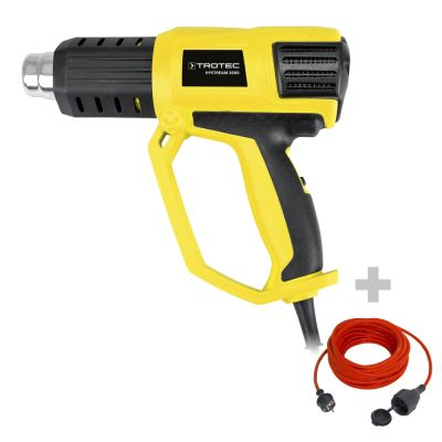 Heteluchtpistool HyStream 2000 + Kwaliteits verlengsnoer 15 m / 230 V / 1,5 mm²