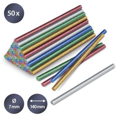Lijmsticks-set glitter, 50 stuks (Ø 7 mm)