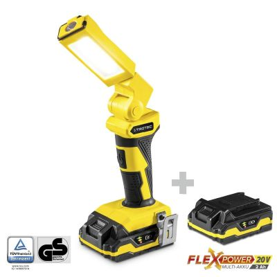 Accu werklamp PWLS 10-20V + Flexpower multi-accu 20V 2,0 Ah