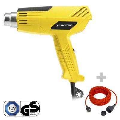 Heteluchtpistool HyStream 200 + Kwaliteits verlengsnoer 15 m / 230 V / 1,5 mm²