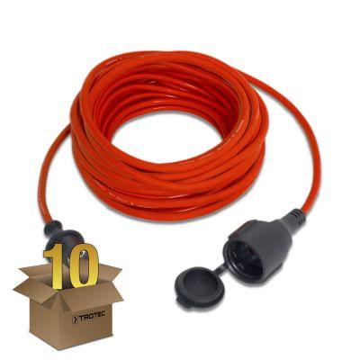 Kwaliteits verlengsnoer 15 m / 230 V / 1,5 mm² in een pakket van 10