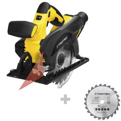Accu handcirkelzaag PCSS 10-20V + Cirkelzaagbladenset voor hout Ø 150 mm (24 tanden), 3-delig