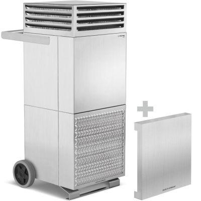 Luchtreiniger TAC V+ rvs  + geluiddempende kap