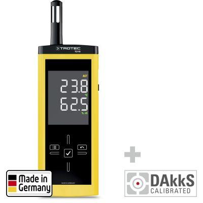 T210 Thermohygrometer - gecalibreerd naar DAkkS D.2101