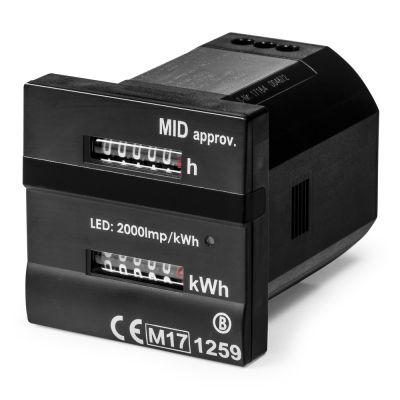 Dubbele teller - Voor bedrijfsuren en kilowattuur MID-conform