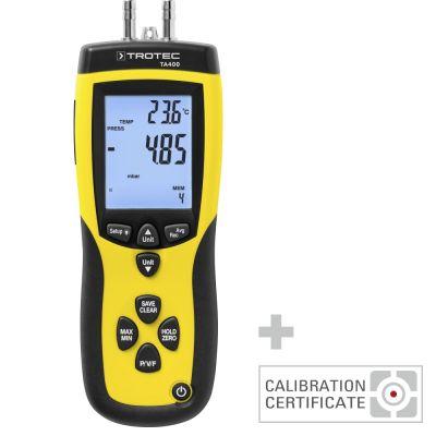 Anemometer TA400 Pitotbuis incl. kal. certificaat