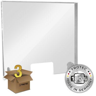 Baliescherm plexiglas met aerosolrand MEDIUM 795 x 250 x 750 pakket van 3 stuks