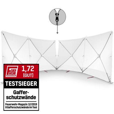 VarioScreen-calamiteitenscherm 4*180*180 doormidden deelbaar wit